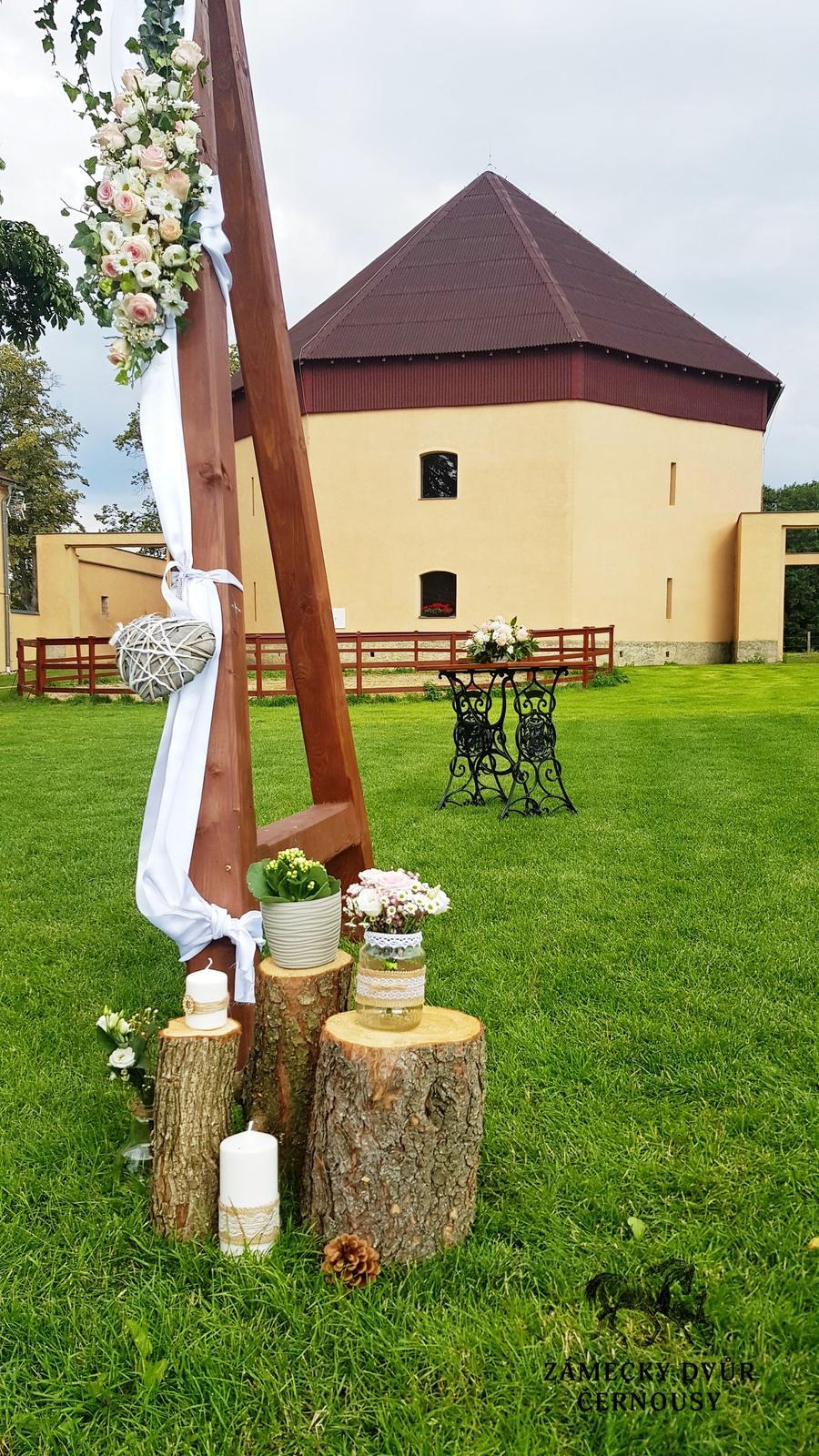 Dřevěné špalky (dekorace na svatbu) - Obrázek č. 1