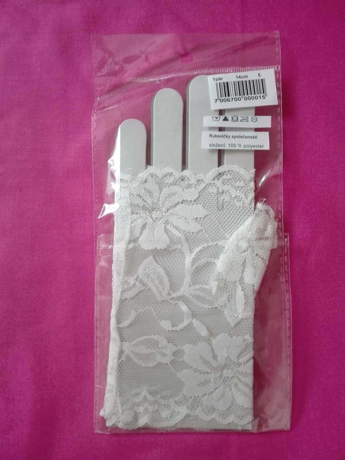 Svatební rukavičky - NOVÉ - Obrázek č. 1
