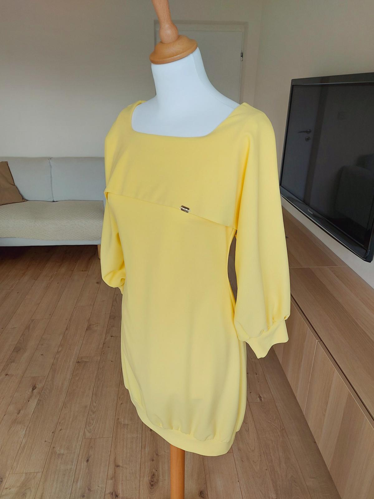 Predám žlté krátke šaty - Obrázok č. 1