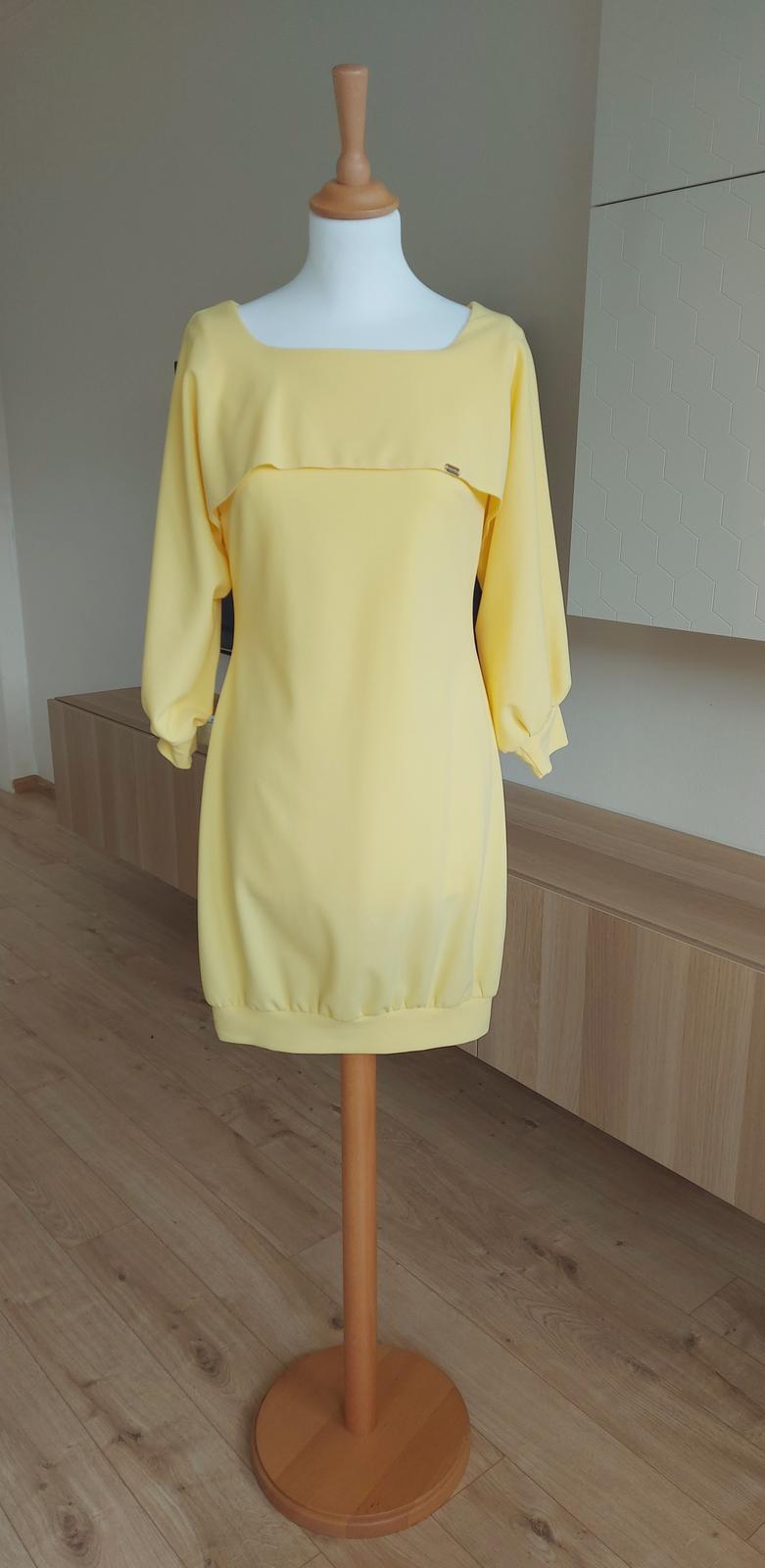 Predám žlté krátke šaty - Obrázok č. 2