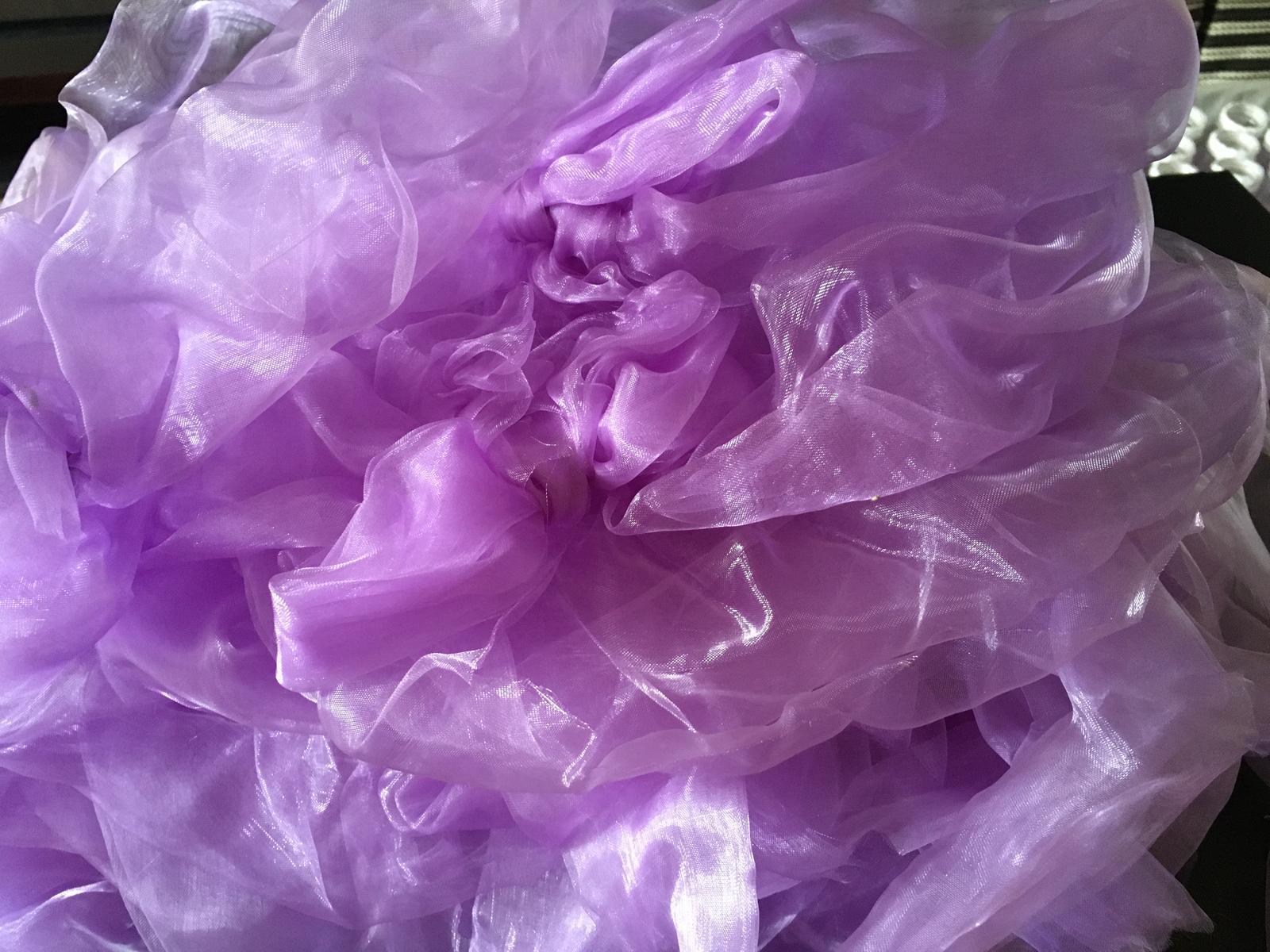 Mašle na židle z organzy 40 ks lila fialová levandulová - Obrázek č. 4