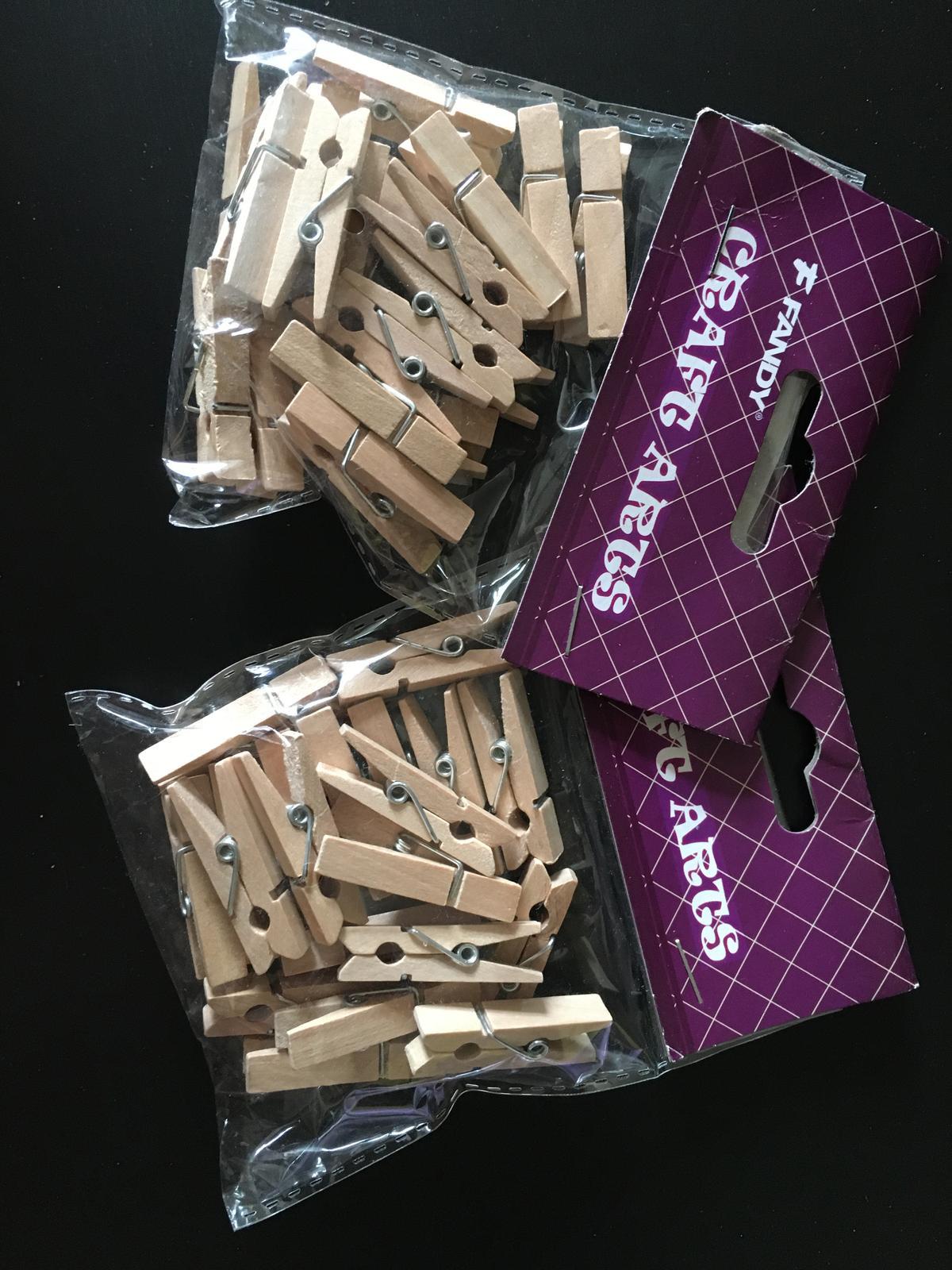Kolíčky dekorační dřevěné 20 ks NOVÉ - Obrázek č. 1