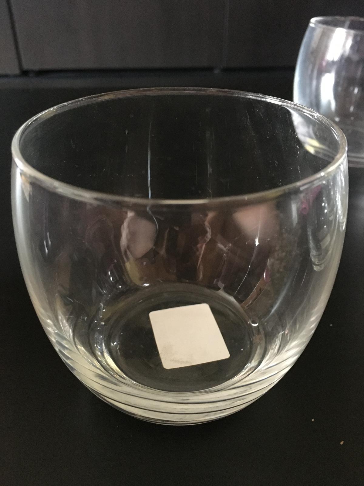 Dekorační sklenka svícen průhledná - Obrázek č. 1
