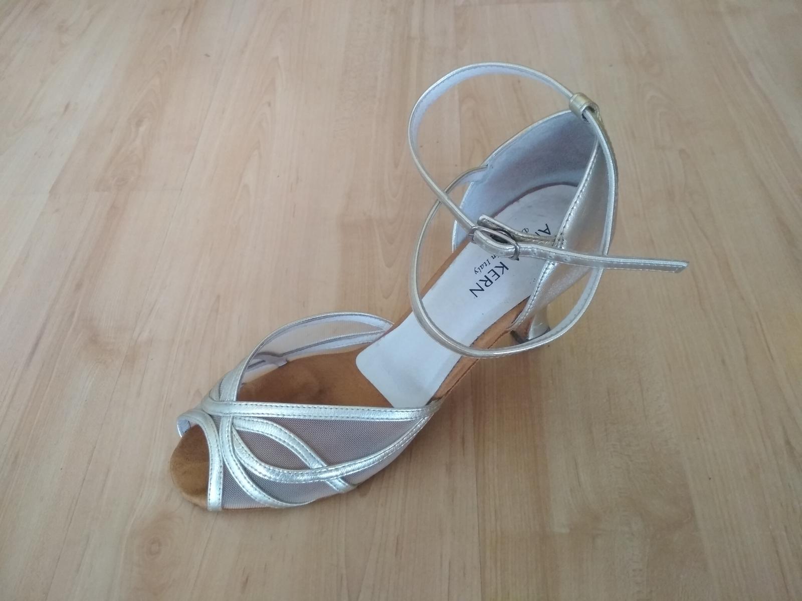 Zlaté taneční boty Anna Kern, vel. 5 1/2 - Obrázek č. 1