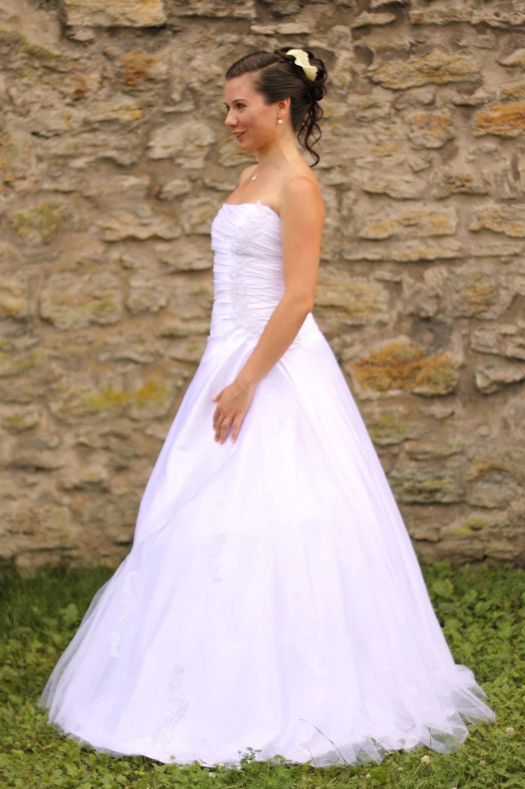 Svatební šaty vel. 36 - šité na míru! - Obrázek č. 1