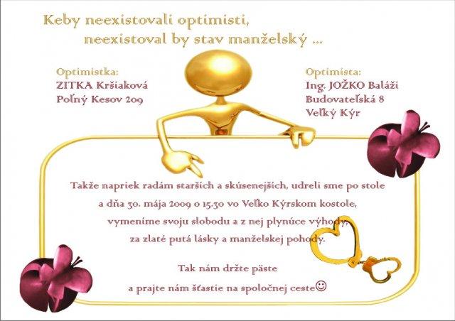 Zitka{{_AND_}}Dodko Balážioví - nase oznamko