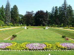 Přerov, park Michalov, francouzska zahrada