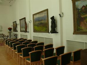 Přerov, obřadní síň, muzeum J A Komenského