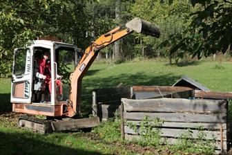 technika na přehazování kompostu :-)