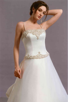 Ralfik a stelka, pomaly ale isto :) - dress from the front - the embroidery is silver, not gold and it has no straps