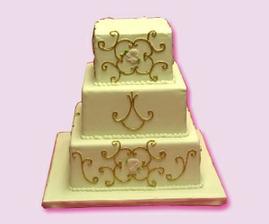 torta s rovnakou vzorkou ako saty