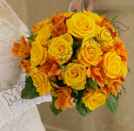 Svadobné kytice - A takúto kytičku som mala ja :-)