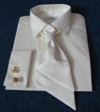 košeľa pre ženícha, spolu s francúzskou viazankou a manžetovými gombíkmi.. na masli a vesticke je krasny vzor..