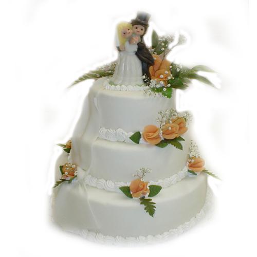 ORANŽOVÁ SVATBA - svatební dort - rozdíly asi budou