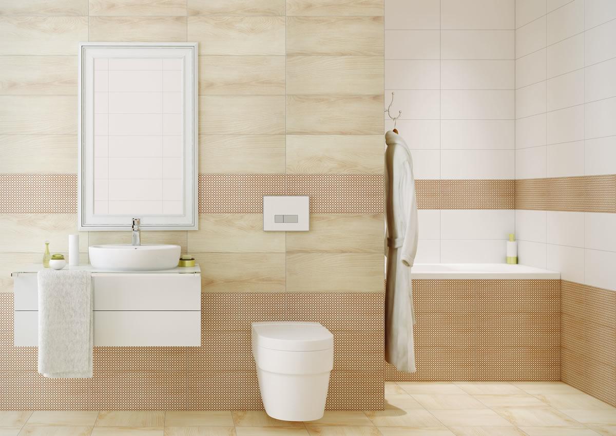 Obklady, dlažba, koupelny - Obklad Sunny wood beige - levné a krásné (ale jen na obrázku)