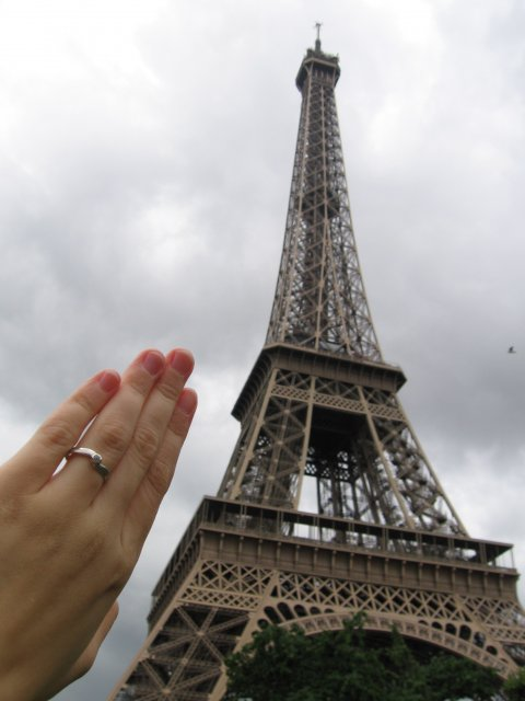 Rozprávka začína... - zásnuby - Paríž 12.8.2006