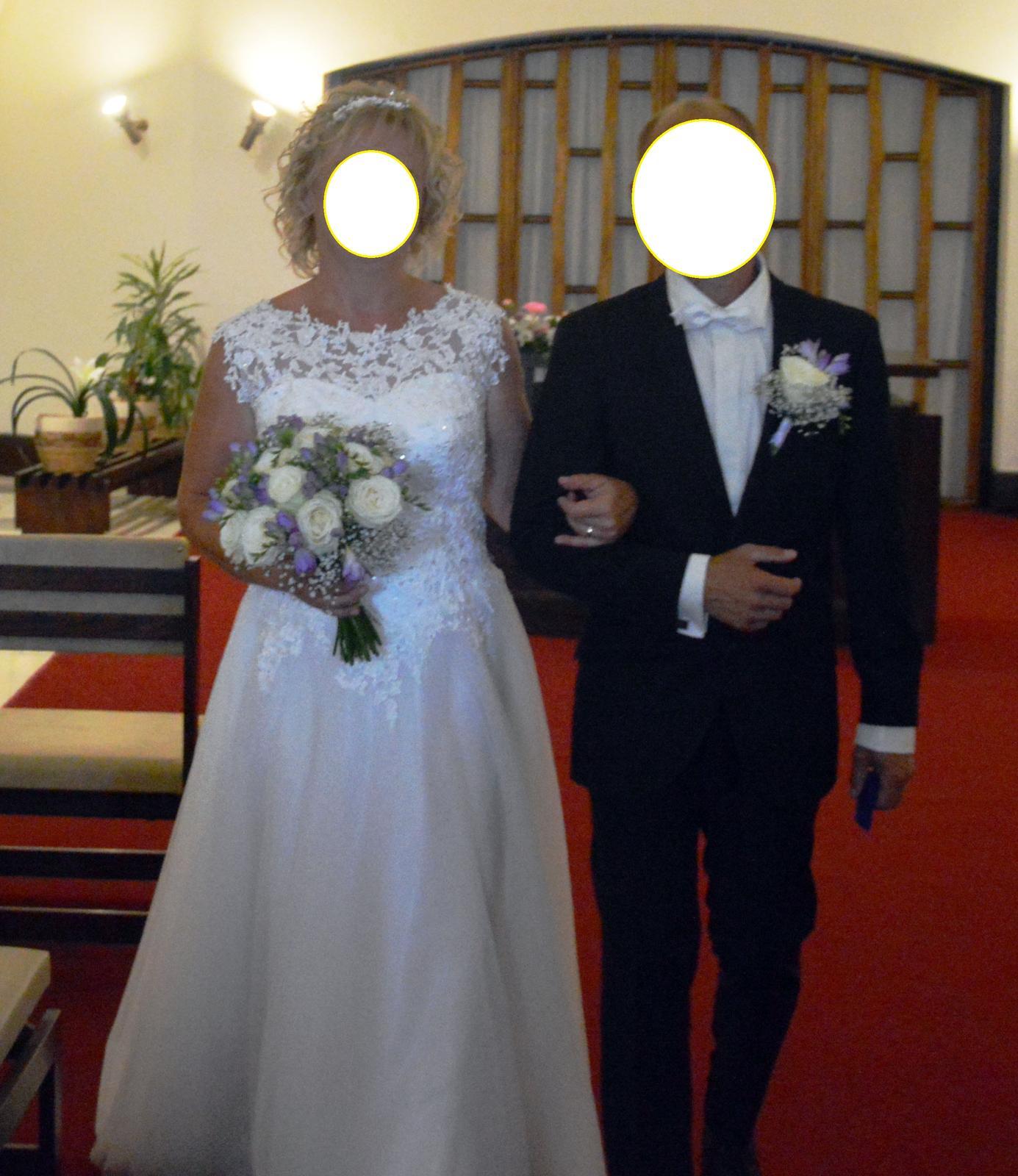 Svatební šaty ivory vel. 40-44 - Obrázek č. 1