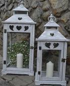 Svadobné drevené  lampáše PRENÁJOM,