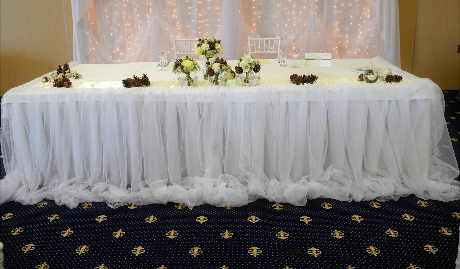 Tutu sukna na hlavný stol prenájom - Obrázok č. 4