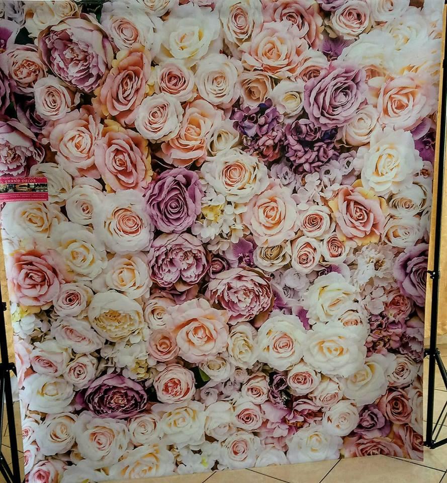 Fotostena s kvetinovým pozadím - Obrázok č. 1