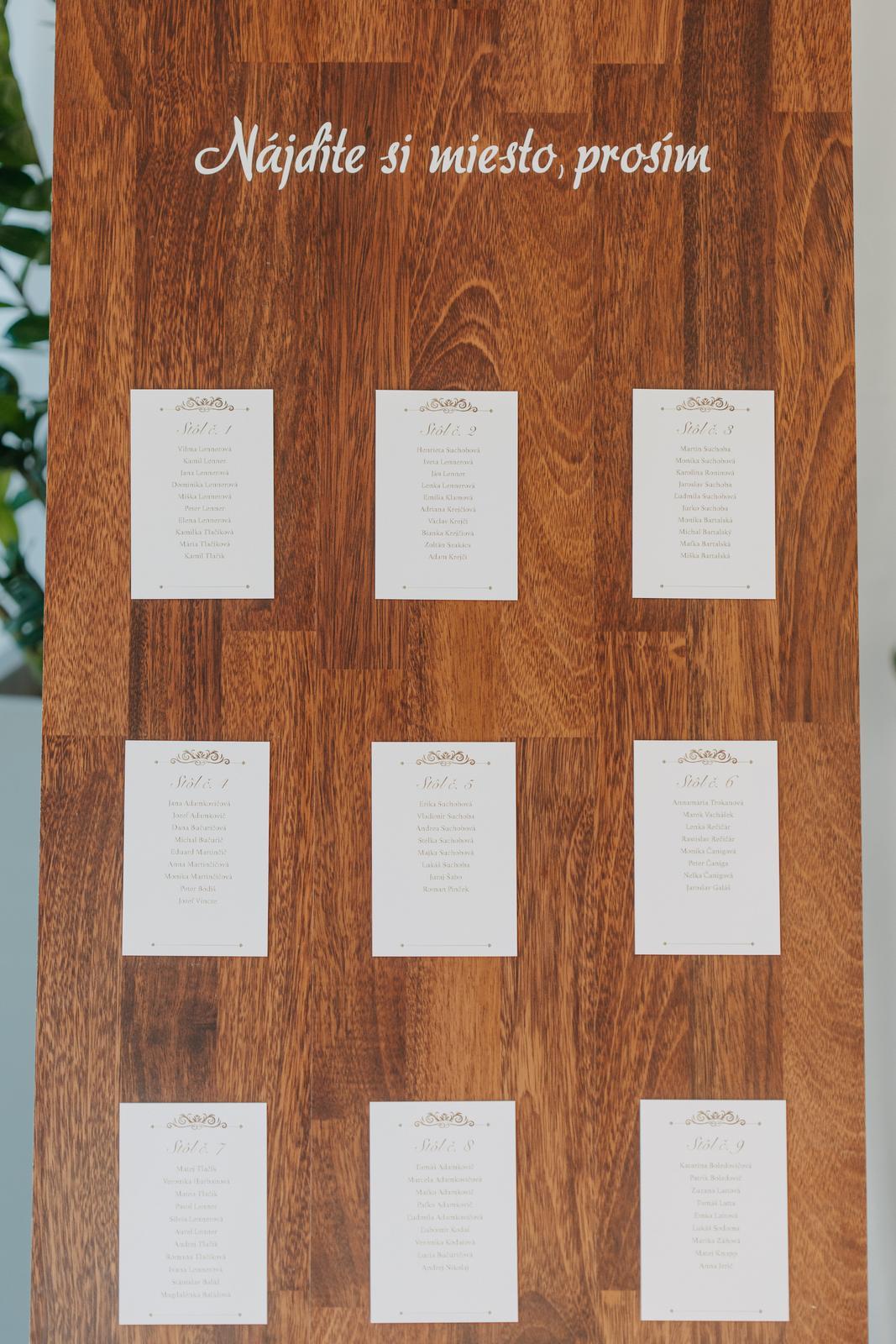 Stojan na zasadací poriadok + drevený rám - Obrázok č. 2