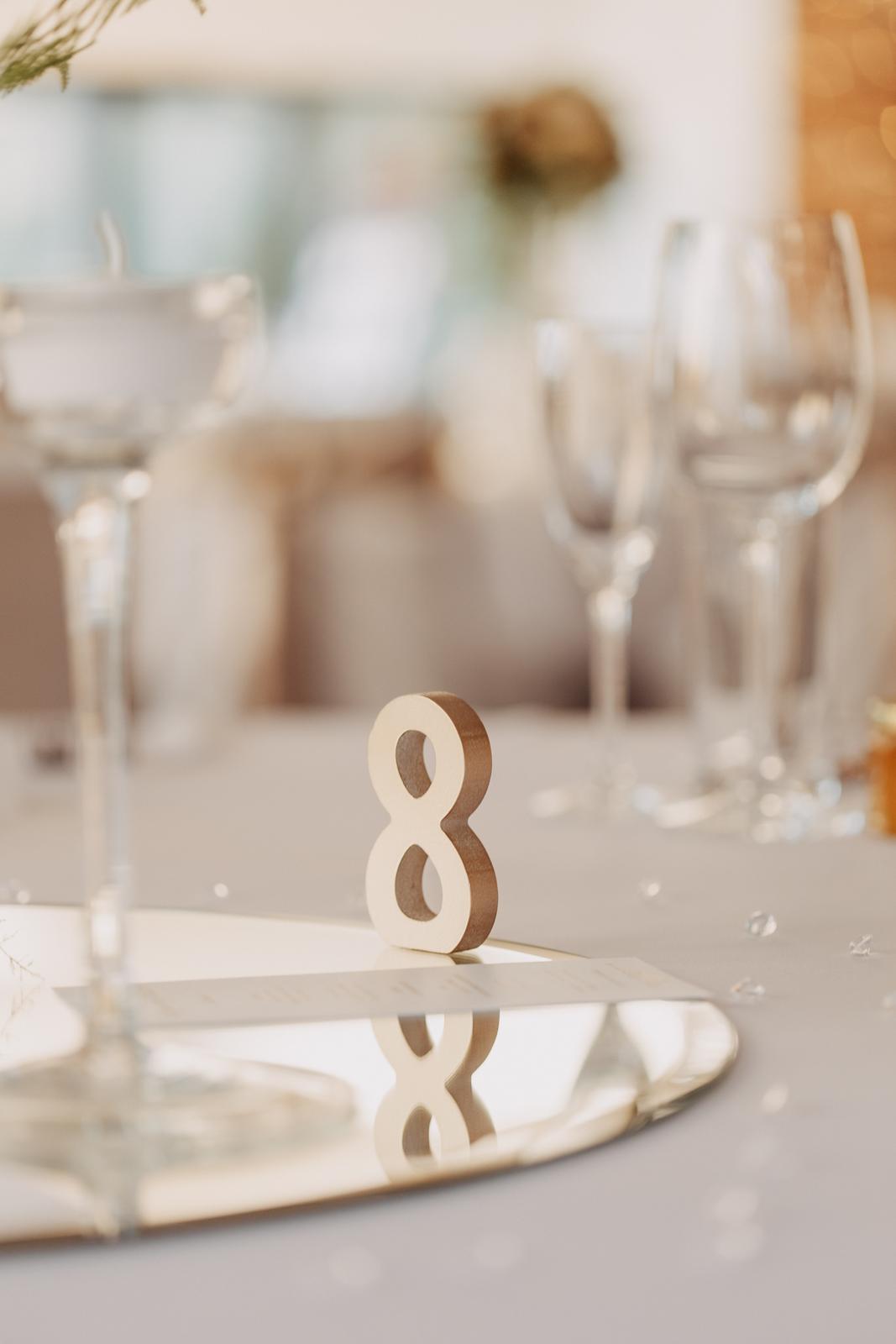 3D číslo na očíslovanie stolov - Obrázok č. 1