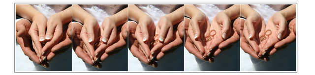 prstýnky v dlani
