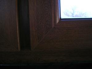 okno zvnútra - detail