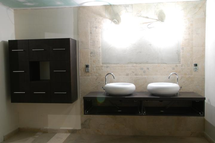 Inspirace podle které stavíme.....a realita - začínáme kompletovat koupelny ....