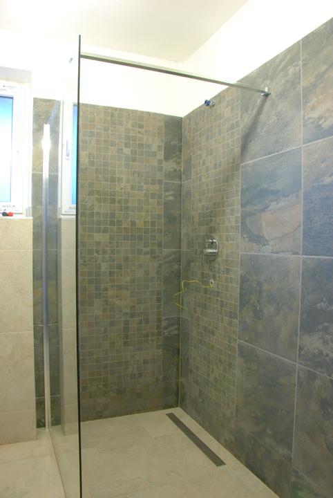 Inspirace podle které stavíme.....a realita - sprcha skoro hotová...