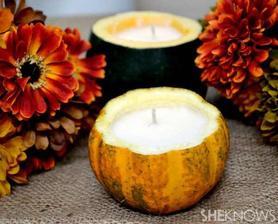 Svíčka z dýně....
