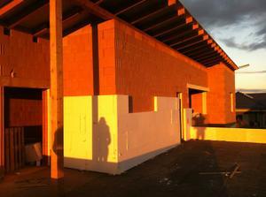 nádherný západ sluníčka na horní terase.......