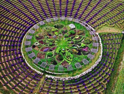 Zahradne mandaly - Krasne, ale to bude velke, to je asi taky maly amfiteater.. :)