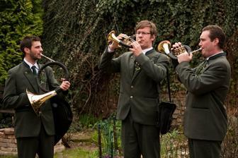 naši skvelí trubači nacvičovali svadobný pochod:)