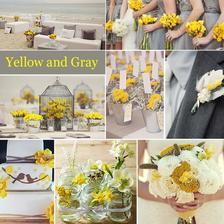 Žltá a šedá