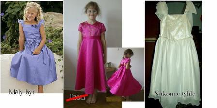 Družička je stejně nerozhodná jako nevěsta, a tak taky ještě jednou výběr šatů změnila, doufám že naposled - tak to změnila ještě jednou, další foto až ve svatebním albu.