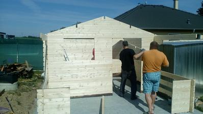 Postavili jsme si chatu,abysme měli kam jezdit-chodit na víkend...Máme to jen pár kroků od domečku,takže ušetříme za benzín...