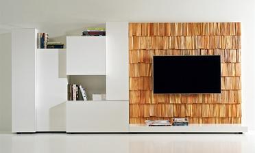 nadherne vyuzity drevený šindel v interiéri