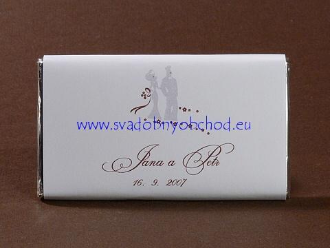 Nora a Martin - priprava na 15.3.2008 - cokoladky ako darceky pre hosti, uz objednane s nasimi udajmi a tymto motivom