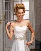 saténové svadobné šaty, model 4303, 38
