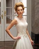 mušelínové svadobné šaty model 4312, 38