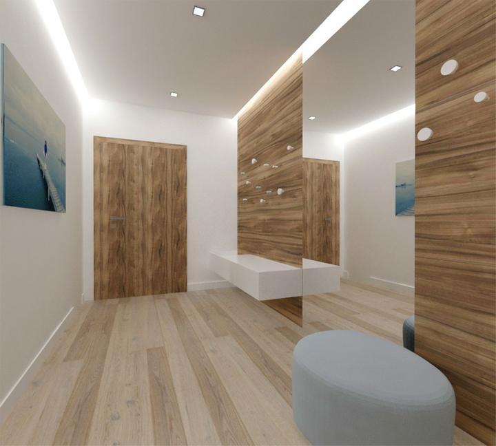 Interier maleho dvojizbového bytu v Bratislave - vstupna hala