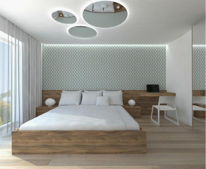 Interier maleho dvojizbového bytu v Bratislave - spalna