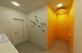spodná kúpelňa so sprchovým kútom