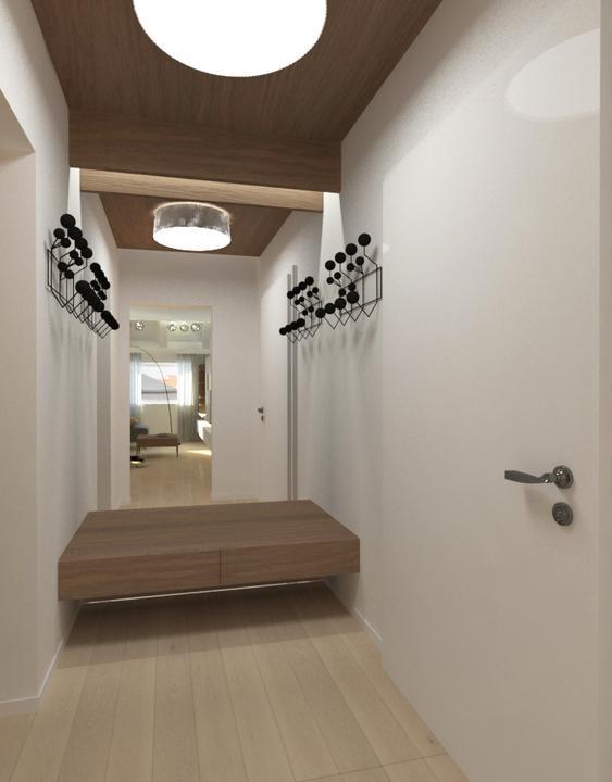 Interier maleho bytu - Navrh interieru malej predsiene