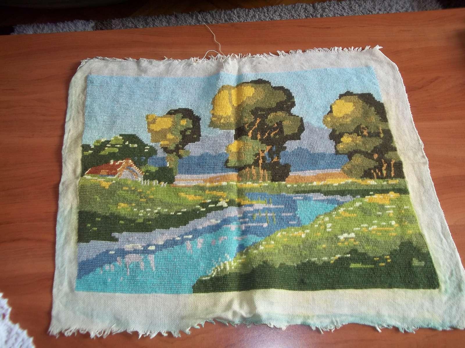 Obraz ručná práca gobelinový steh, krajinka - Obrázok č. 1