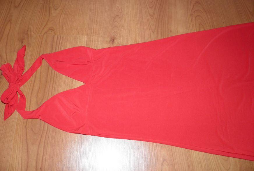 červené šaty pre 34/36 veľkosť  - Obrázok č. 1