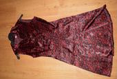 červeno-čierne šaty XS/S, 34