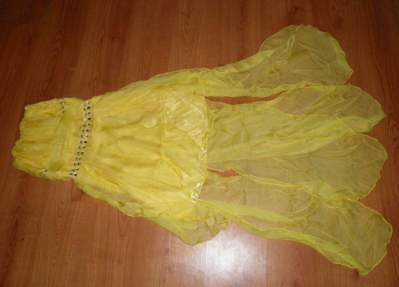 úžasné spoločenské žlté šaty s vlečkou - Obrázok č. 1