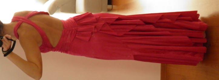 dlhe spoločenské šaty, cyklamenové 34/36, XS/S - Obrázok č. 4